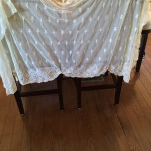 Vintage lace curtain with valance